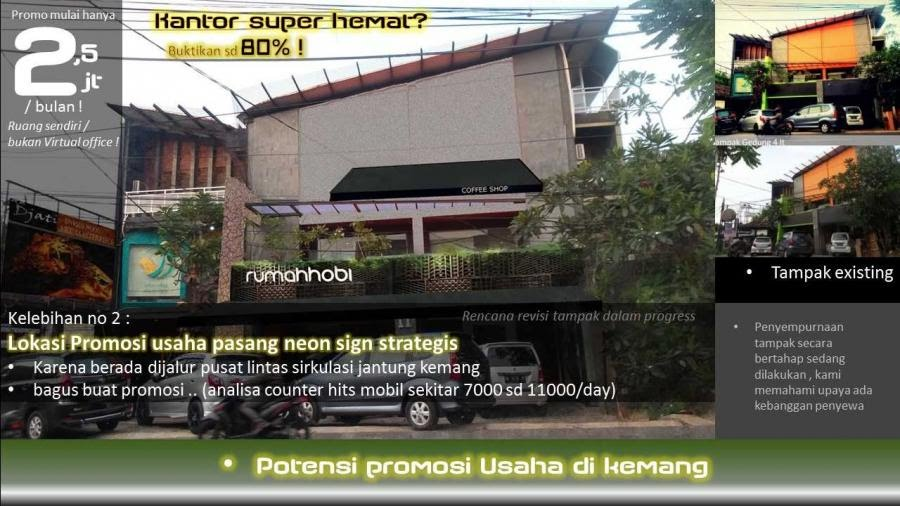 Lokasi Promosi usaha neon sign strategis