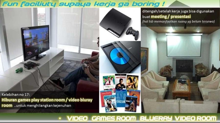 1Area hiburan Games play station Room & bluray movie room